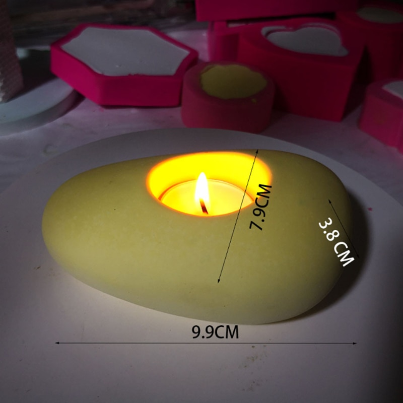 Portavelas molde de vela de silicona moldes de vela decoración de boda