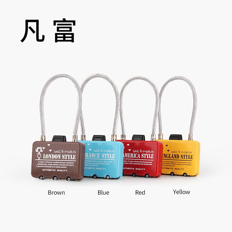 Accesorios de equipaje código bloqueo maleta reemplazo aleación de zinc material protección de seguridad bloqueo de seguridad antirrobo cerradura de moda