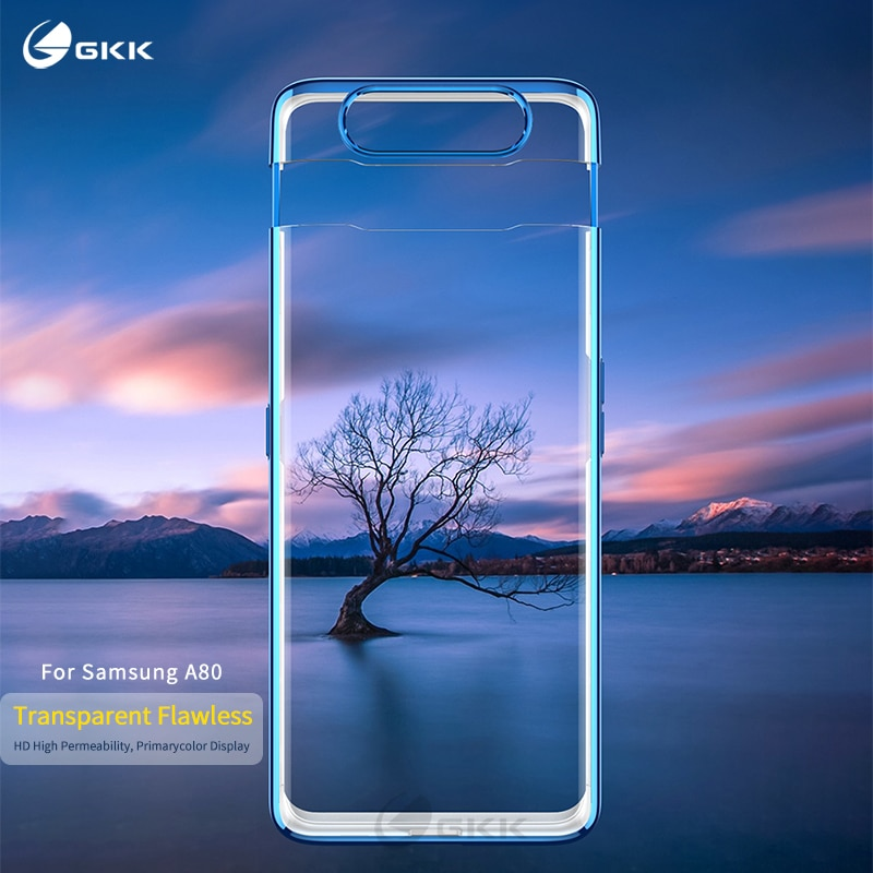 Роскошный прозрачный чехол GKK для samsung Galaxy A80, чехол 360, полная защита, идеально подходит для samsung A80, чехол funda