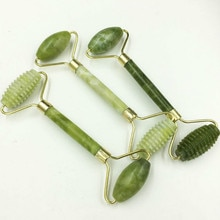 Facial Massage Roller Double Heads Jade Stone Face SPA Lift Hands Body Skin Relaxation Slimming Beau