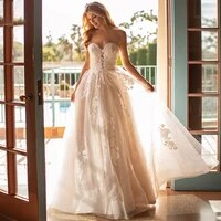 luxury wedding dress elegant multi layer lotus leaf yarn v neck beading wedding gowns crystal lace up white vestido de noiva