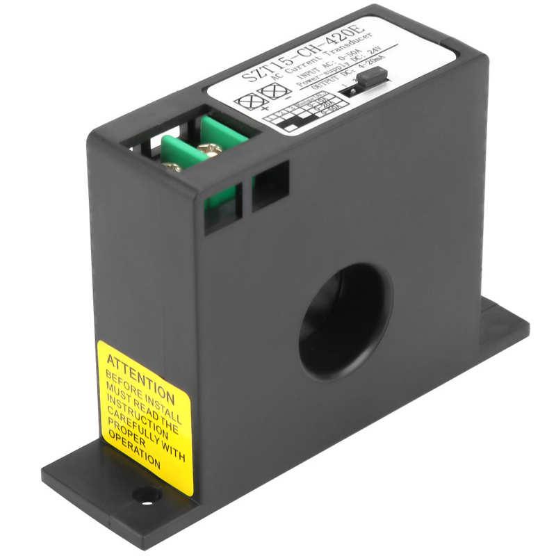 AC الحالي الارسال محول الاستشعار AC الحالي تحويل 0-50A SZT15-CH-420E