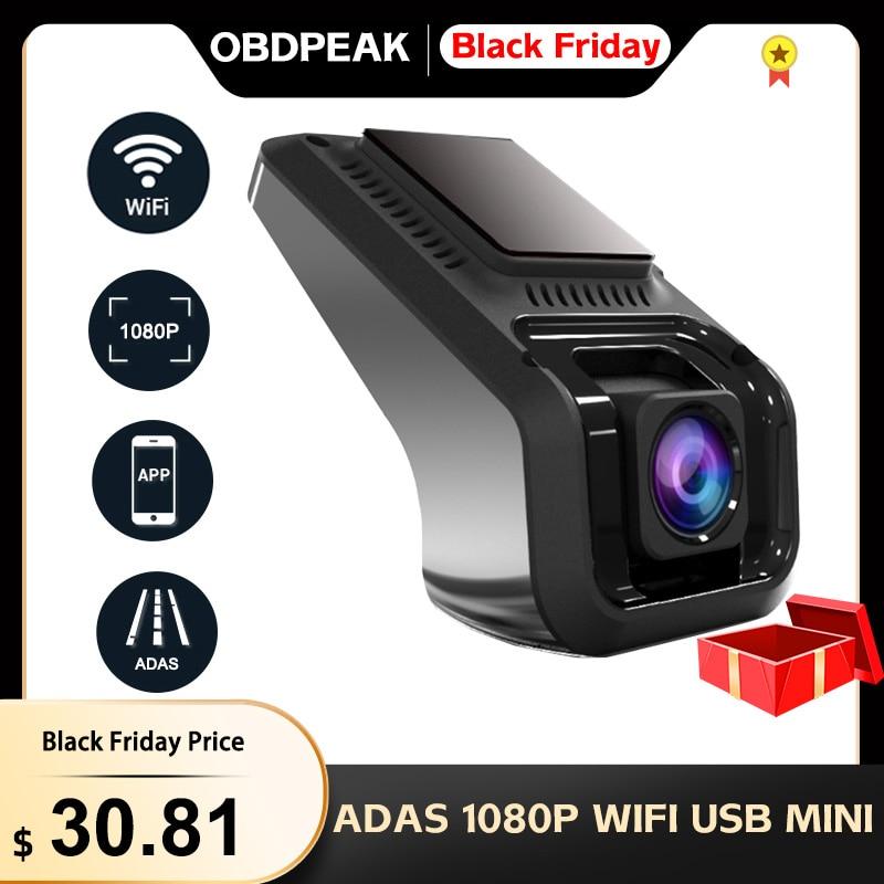 Obdtop X9 برو ADAS 1080P جهاز تسجيل فيديو رقمي للسيارات كاميرا التسجيل الخاصة بالسيارات ل أندرويد واي فاي G-الاستشعار USB كاميرا سيارة صغيرة الرقمية ال...
