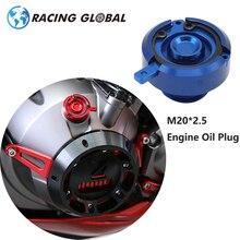 Bouchon dhuile moteur M20 * ALCON-CNC, 2.5, pour Kawasaki Z800 Z1000 Yamaha MT09 FZ09 TMAX 500/530 Honda KTM, moto universelle