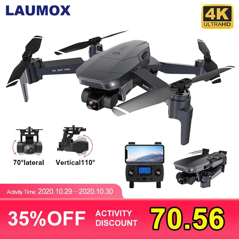 LAUMOX SG907 PRO GPS Drone mit 2 Achsen Gimbal Kamera 4K HD 5G Wifi Weitwinkel FPV Optische fluss RC Quadcopter Eders SG906 PRO 2