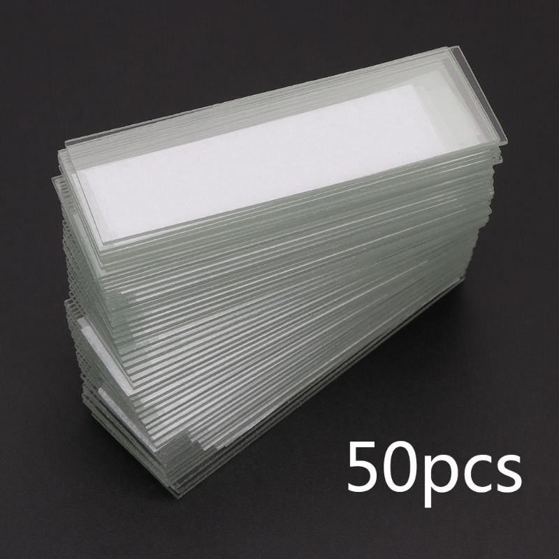 50Pcs/set 1mm Thickness Glass Coverslips Single Concave Microscope Glass Slides Reusable Laboratory Blank Sample Cover Glass