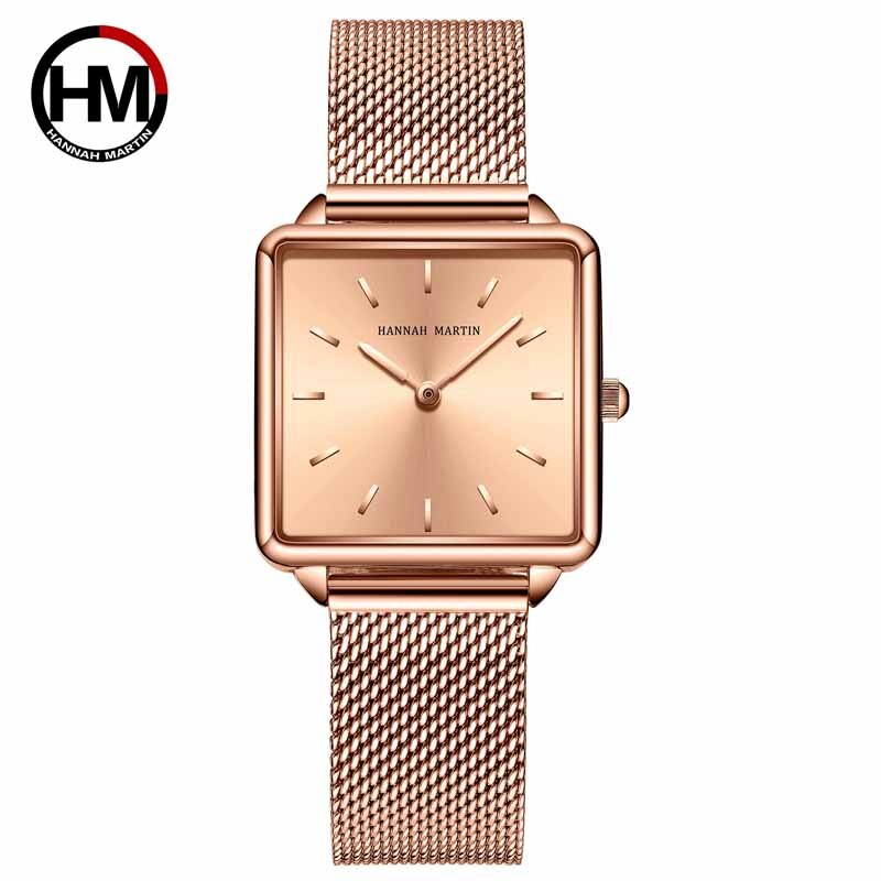 Hannah Martin 2020 New Ladies Watch Luxury Brand Quartz Wristwatch Women Watches Gifts for Women Steel Strap Clock Reloj Mujer hannah martin wristwatch women watches luxury brand quartz steel strap female watch diamond ladies watch clock women reloj mujer