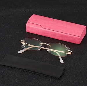 Luxury Diamond Cutting Reading Glasses Women Pink Ultralight Alloy Frame High Quality Anti Blu +1 +1.5 +2 +2.5 +3 +3.5 +4
