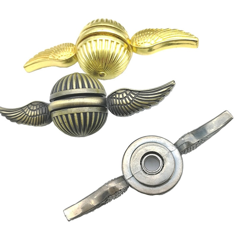 Children Adult Relieve Stress Finger Toys New Retro Metal Angel Wing Fingertip Hand Spinner For Autism ADHD enlarge