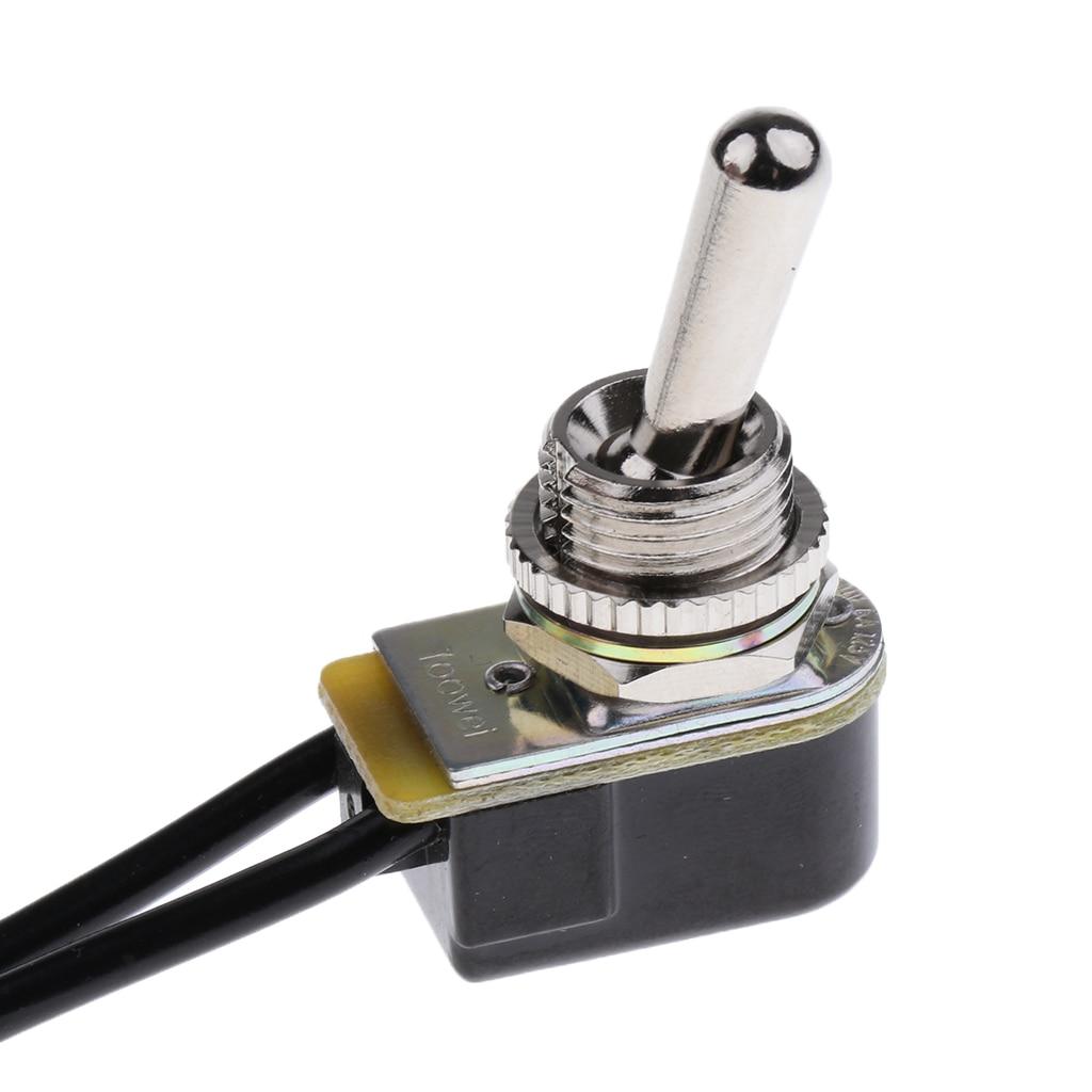 2 unidades, miniinterruptor de encendido/apagado precableado para barco de coche, interruptores de 125V 6 A/250 V 3 a