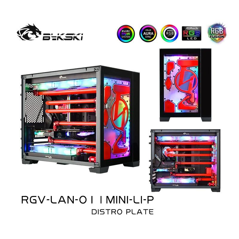 Bykski RGV-LAN-O11MINI-LI-P لوحة Distro ل ليان لي PC-O11 حافظة صغيرة ، مجلس الممر المائي ل GPU واحد بناء مياه التبريد