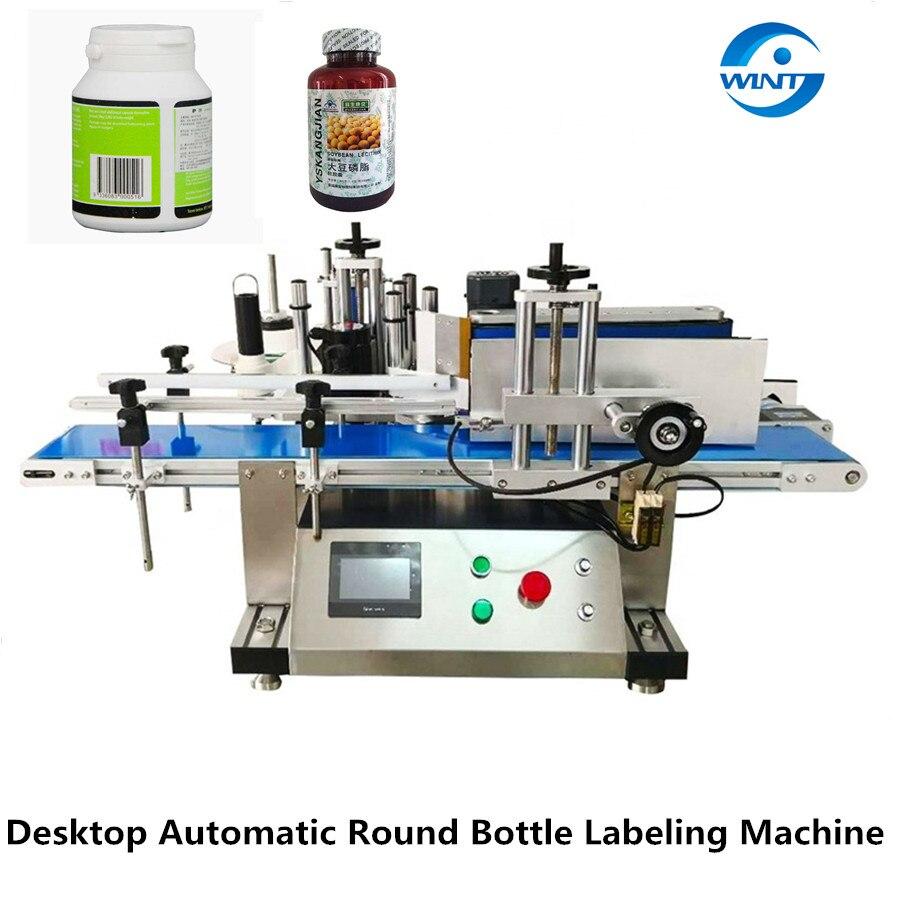 Máquina de etiquetado de botellas redondas de metal para botellas redondas de vidrio PET