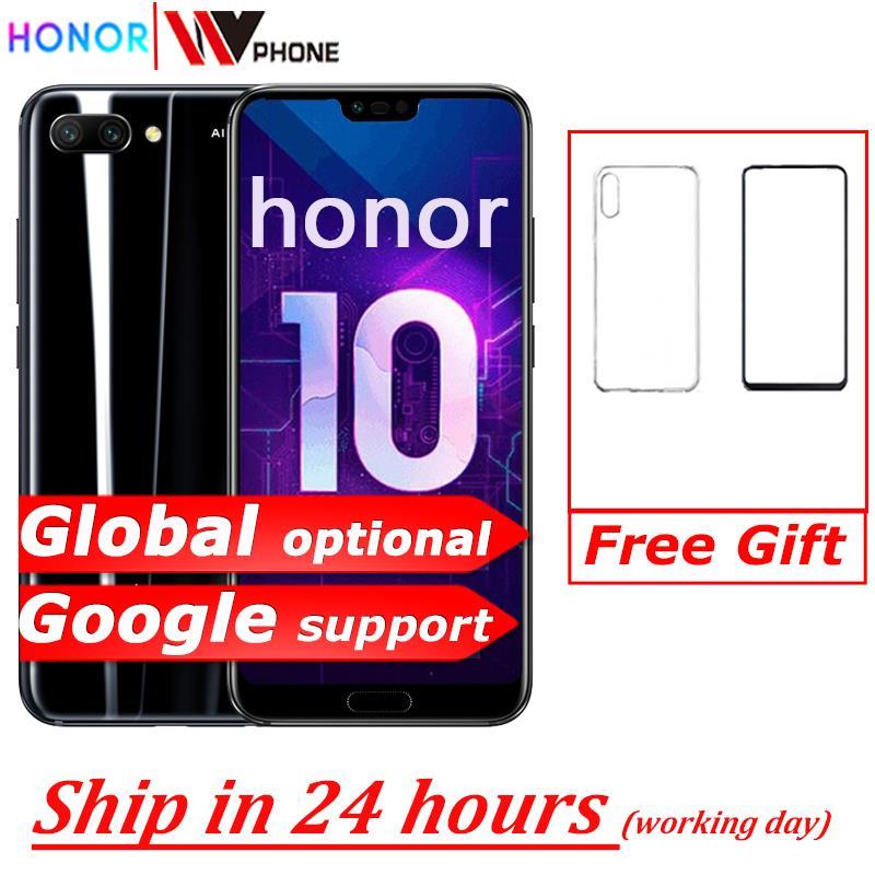 Глобальная версия Honor 10 NFC AI Камера Octa Core 5,84 дюймов с функцией отпечатка пальца ID android 8,1 19,5: 9 Полный Экран