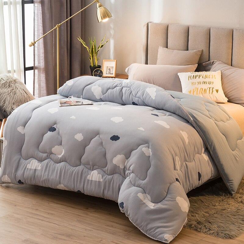 220*240 سنتيمتر فراش سرائر للمنازل عالية الجودة الشتاء المعزي نمط لون نقي الدافئة و رشاقته حاف 100% غسلها القطن لينة لحاف