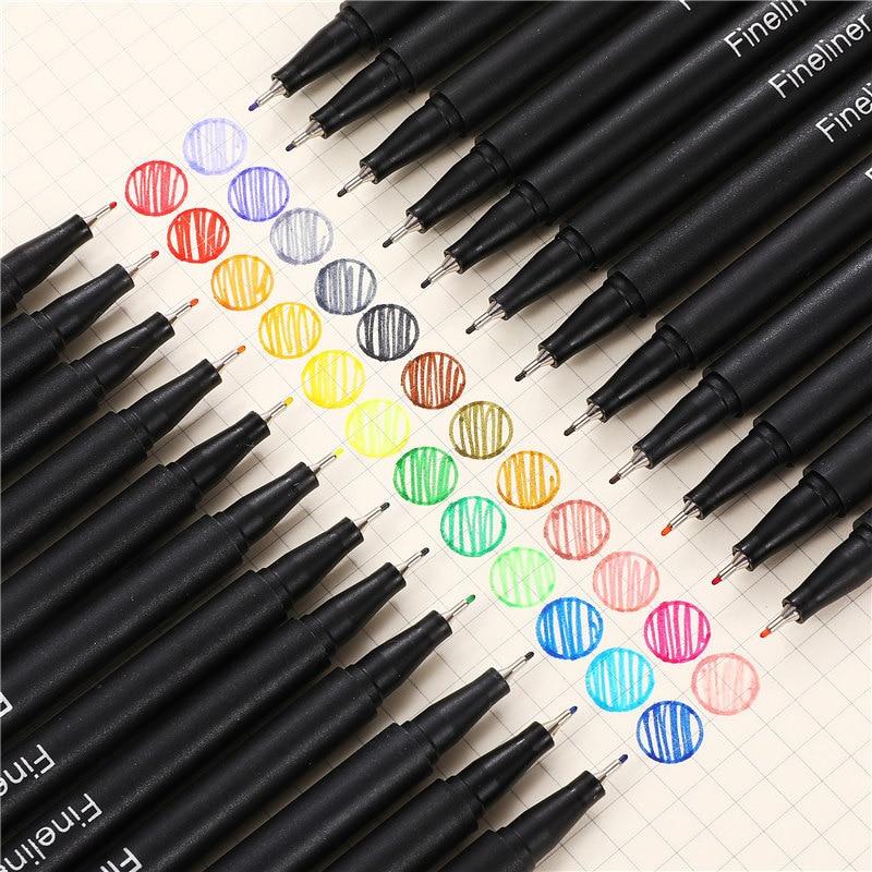 12 pçs colorido 0.38mm caneta marcador neutro fineliner canetas para a escola escritório caneta conjunto kawaii tinta caneta arte suprimentos bonito 04031