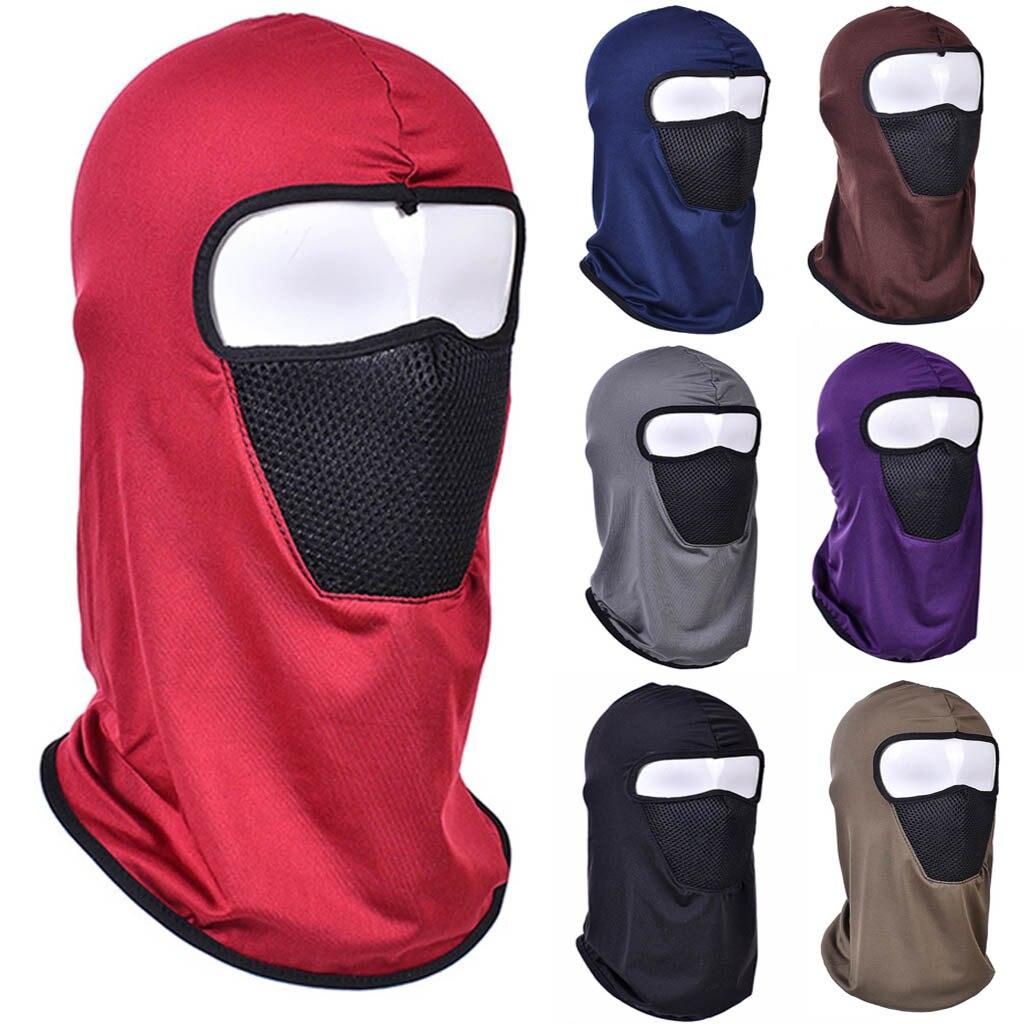 Ciclismo al aire libre esquí motocicleta ciclismo Balaclava casco completo máscara cuello fino cómodo y protección transpirable cabeza # L5