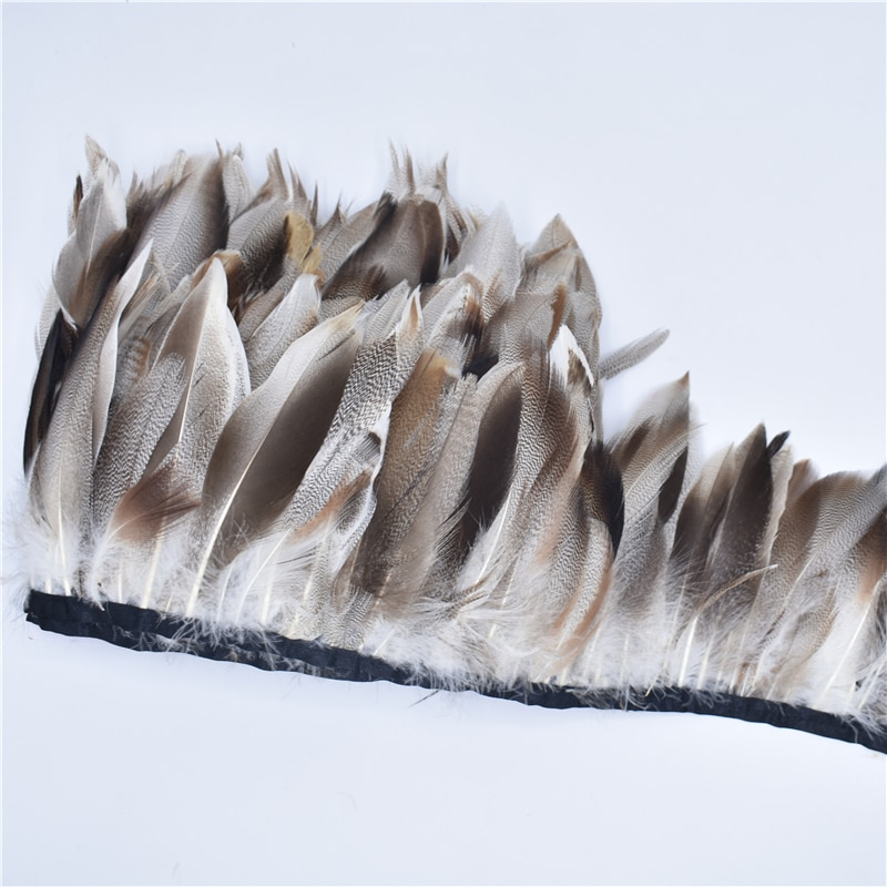 AliExpress - 1Meters Natural Pheasant Feather Trim Fringe Ribbon Goose Pheasant Feathers for Crafts Plumas Carnaval Decoration Feather Decor