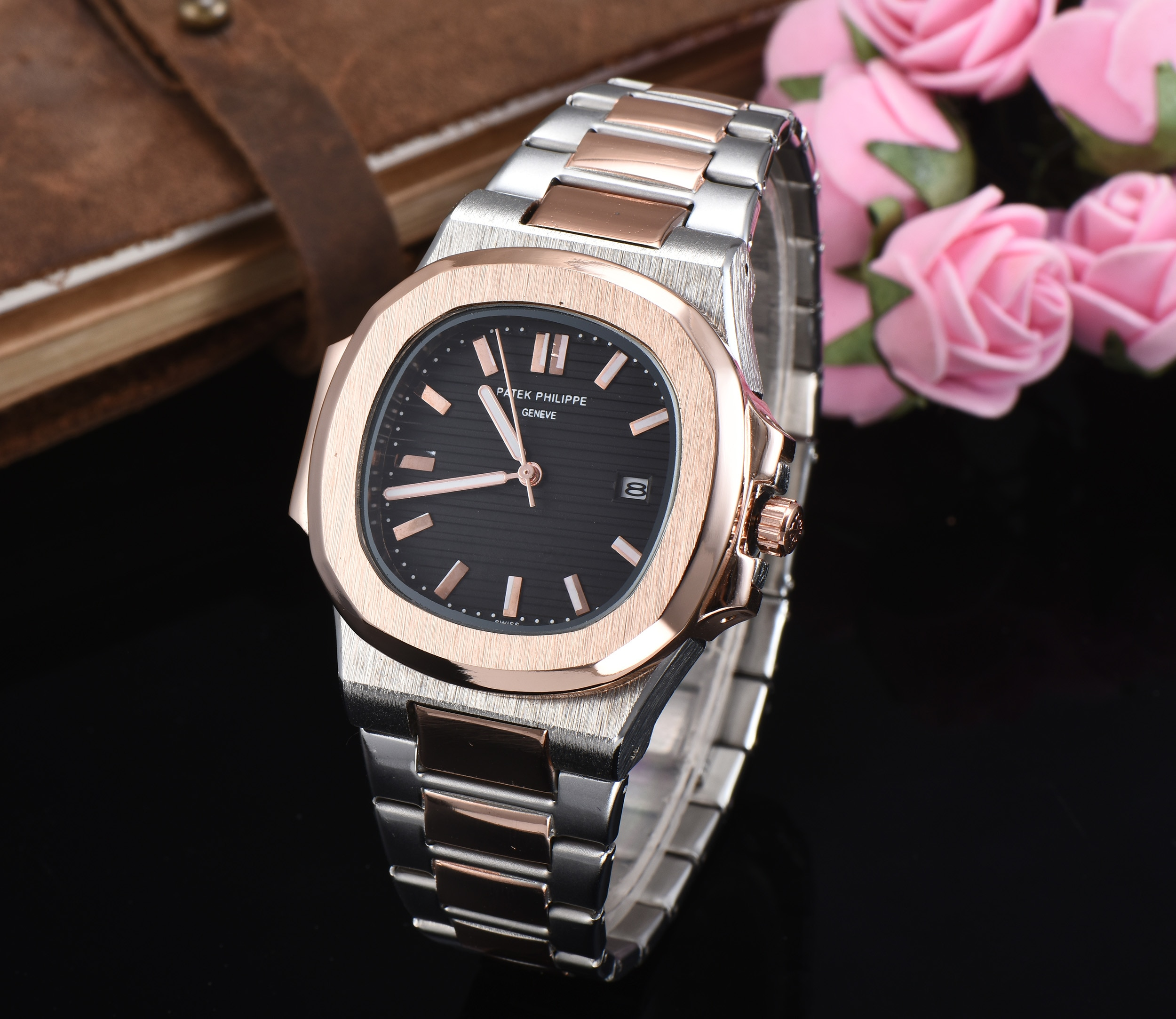 Watches for Men 2021 Top Fashion Brand Quartz Watch Daily Life Waterproof Simple Stainless Steel Str