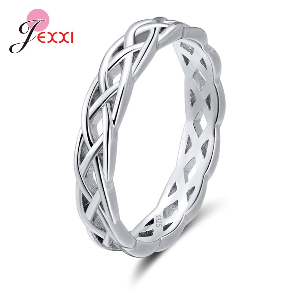 Hot Sale 925 Sterling Silver Rings Women Girls Fashion Wedding Engagement Party Jewelry Accessory Finger