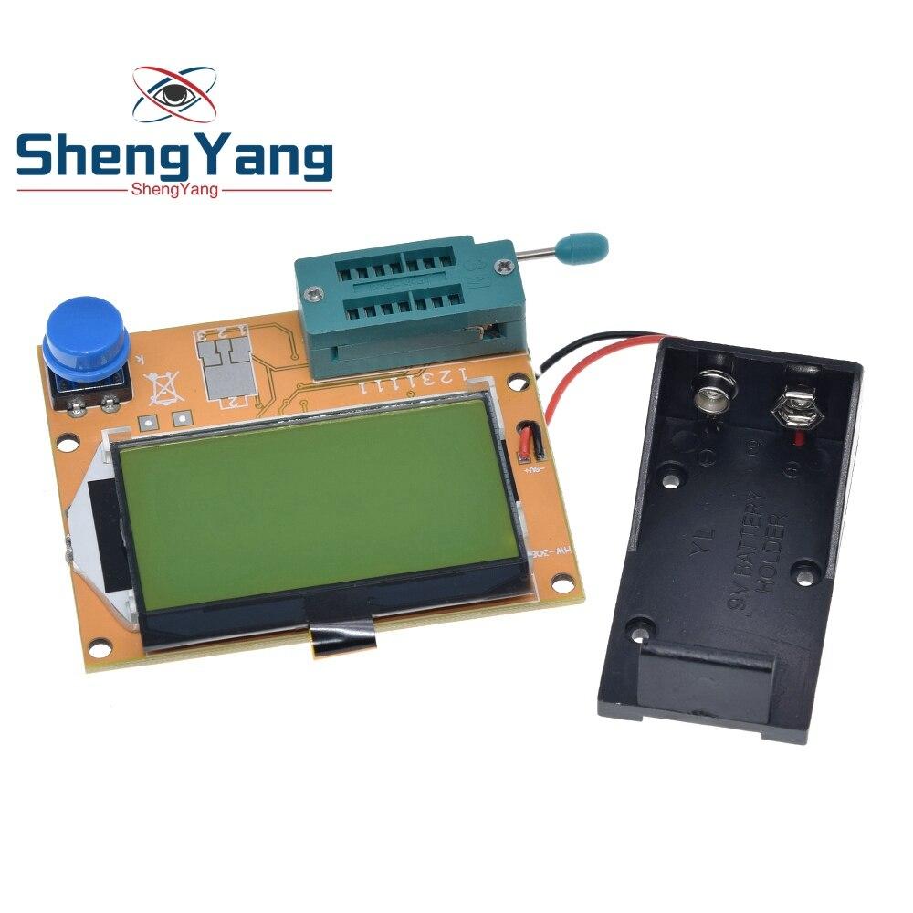 ShengYang  1pcs LCR-T3 Mega328 Transistor Tester Diode Triode Capacitance ESR Meter MOS/PNP/NPN L/C/R Well Working For arduino