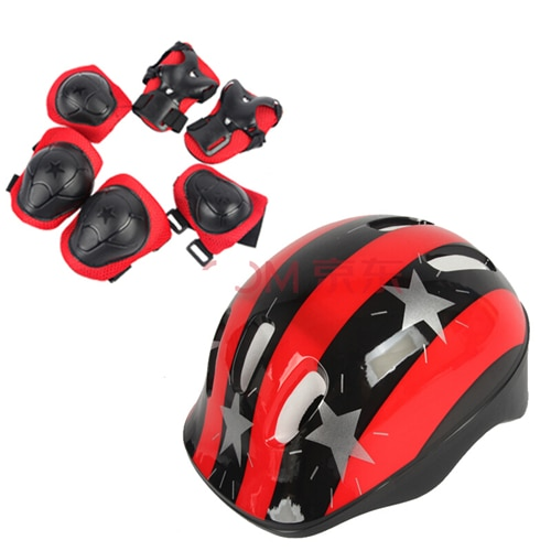 Bicycle Helmet Children Roller Skating Skateboard Elbow Knee Pads Wrist Sport Protection Safety Guard Knee Pads