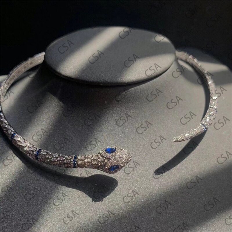 S925 sterling silver Moroccan spirit snake collar a pair of popular temperament event banquet simple lover gift trend fashion