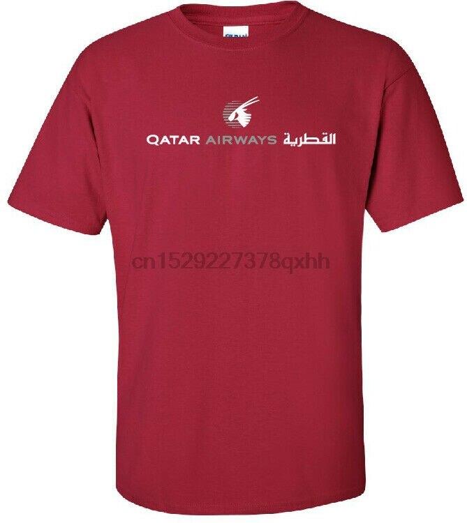 Qatar Airways logotipo clásico de Qatar camiseta de aerolínea