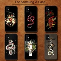 hand snake flower pattern phone case for samsung a91 01 10s 11 20 21 31 40 50 70 71 80 a2 core a10