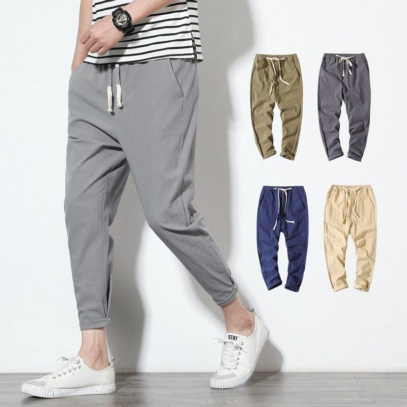 Men's Trousers, Sweatpants, Harem Pants, Slim Cropped Trousers, Men's Small Feet Casual Pants, Men's Slim-fit Sports Pants M-5XL