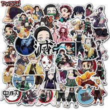 50 teile/paket Dämon Slayer Kimetsu Keine Yaiba Anime Aufkleber Wasserdicht Skateboard Gepäck Koffer Motorrad Aufkleber Kinder Mädchen Spielzeug