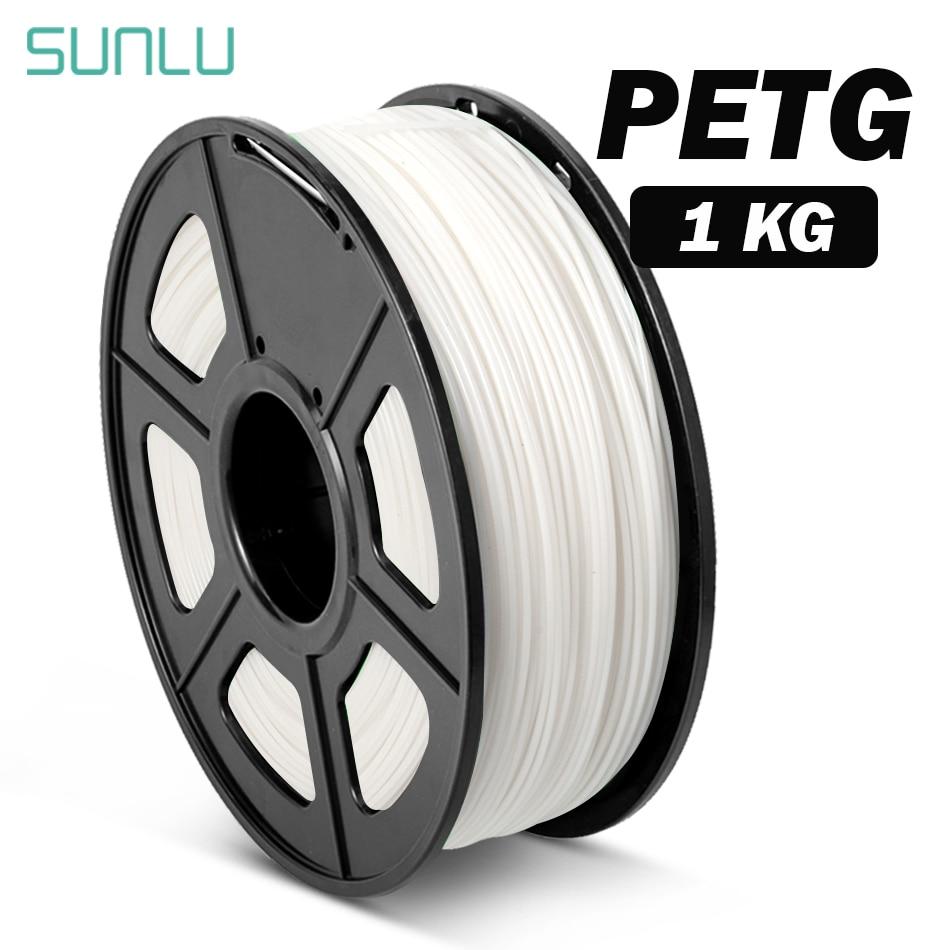 SUNLU Petg Filament 1,75mm Kunststoff PETG 3D Drucker Filament 1kg Mit Spool Transparent PETG 3D Druck Materialien