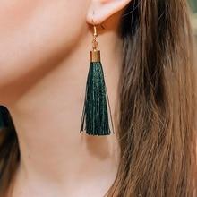 Ailodo Tassel Earrings 2020 For Women Bohemian Long Dangle Earrings Fashion Jewelry Girls Gift boucles d'oreilles 20JAN09