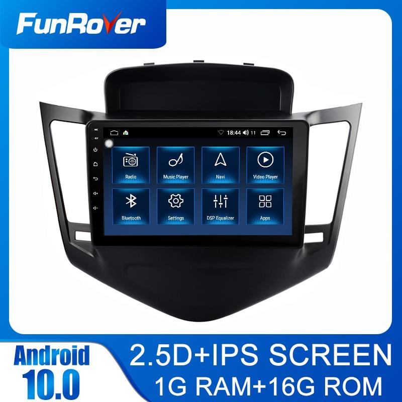 Funrover 2.5D IPS araba radyo multimedya dvd OYNATICI Android 10.0 CChevrolet Cruze 2009-2013 2din araba gps navigasyon stereo