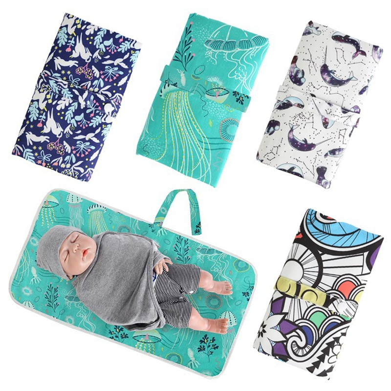 Baby portable foldable waterproof travel nappy diaper infant changing pad floor mat