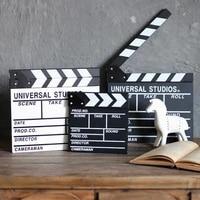 1 pcs director video scene clapperboard clapper board dry erase director tv movie clip film action slate clap handmade cut prop