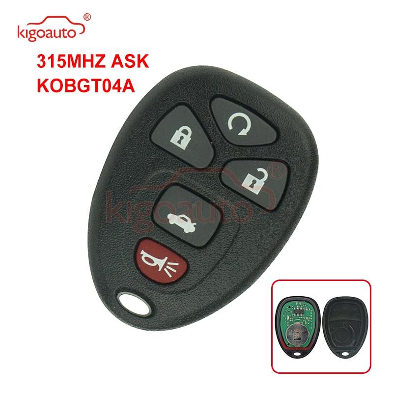 Kigoauto OUC60270 дистанционный fob 5 кнопок 315 МГц для GMC Acadia Yukon 2007 2008 2009 2010 2011 2012 2013 2014