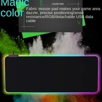 glow led light gaming mouse pad rgb large keyboard cover non slip rubber base computer carpet desk mat pc game mouse pad