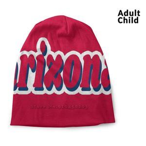 Arizona Retro Shirts Stickers Gifts Spring And Autumn Unisex Beanie Knitted Hat Arizona Cactus State Pride Sun Devils Flagstaff