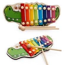 Bébé enfant jouets musicaux arc-en-ciel en bois Xylophone Instrument pour enfants début sagesse développement éducation jouets pour enfants cadeaux
