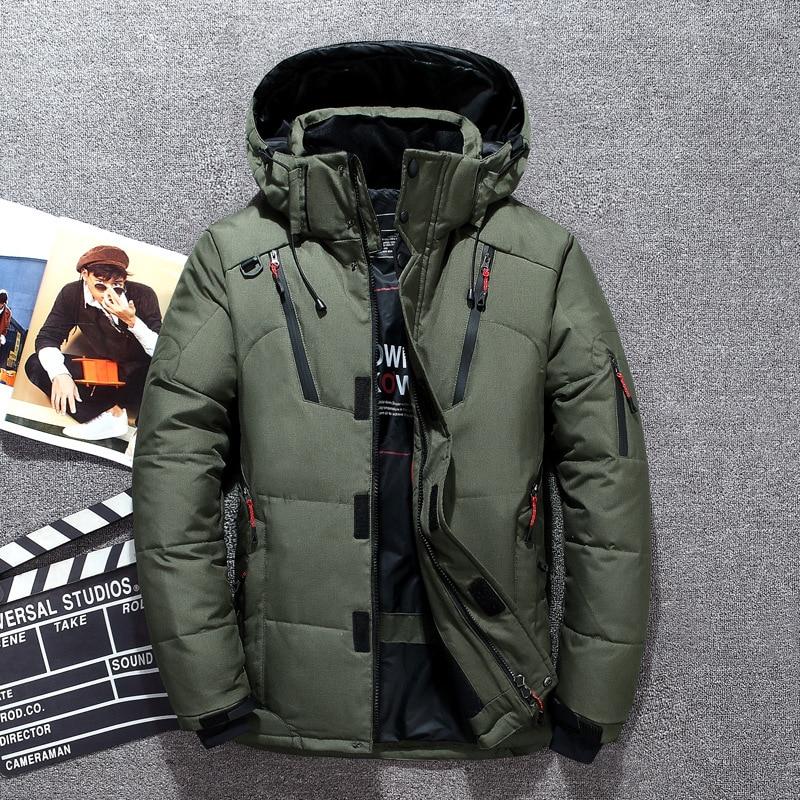 20 degrees winter down coat man white duck down parkas men's jacket thick warm snow parka jacket windbreaker warm parkas