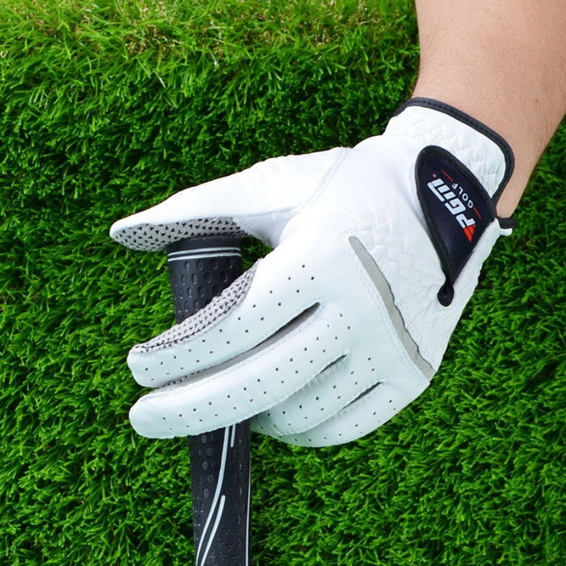 1pcs Golf Gloves Men's Left Right Hand Soft Breathable Pure Sheepskin With Anti-slip Granules Golf Gloves Golf Accessories