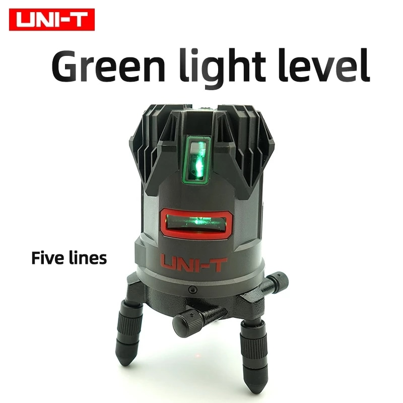UNI-T LM555LD عالية الكثافة مستوى الليزر الأخضر IP54 مقاوم للماء والغبار خمسة قطاعات الليزر ونمط قطري القاع