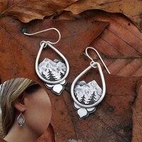 water drop shaped mountain earrings 2021 fashion hanging female earrings summer jewelry girl party gift wholesale