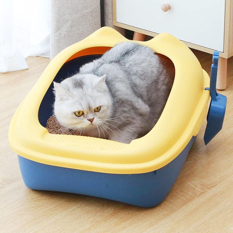 Wurf Box Katze Autolimpiable Große Kunststoff Indoor Wc Bettpfanne Anti Splash Produkte Haus Möbel Selfs Reinigung Zubehör недорого