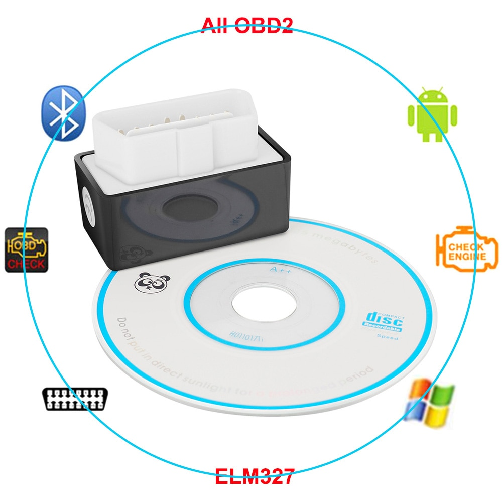 Bluetooth OBDII 2 ELM327 V2.1 Car Scanner Diagnostic Tool For Toyota Corolla Vios Reiz RAV4 Avensis CHR Camry Prius Aurion Yaris