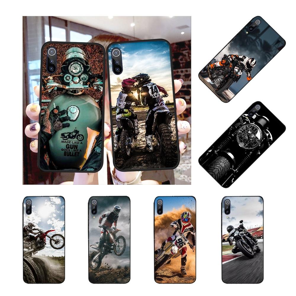 NBDRUICAI Retro motocross motocicleta Bling lindo teléfono caso para Redmi Nota 8 8A 7 6 6A 5 5A 4 4X 4A Go Pro Plus Prime