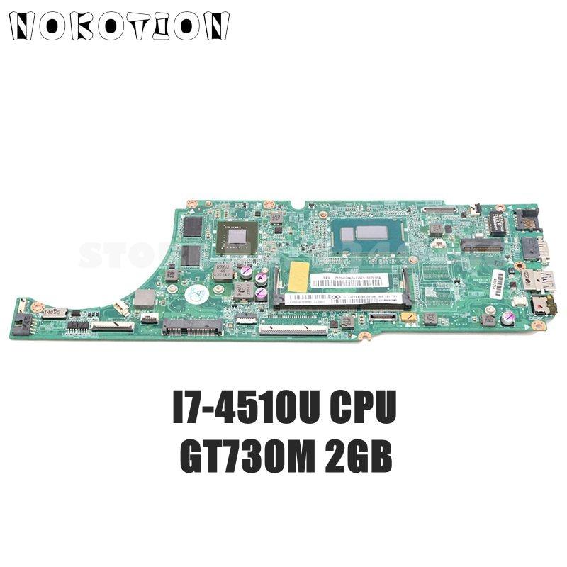 NOKOTION اللوحة الأم لأجهزة الكمبيوتر المحمول لينوفو Ideapad U530 5B20G1636111 DA0LZ9MB8G0 اللوحة الرئيسية شاشة تعمل باللمس I7-4510U وحدة المعالجة المركزية GT730M 2GB