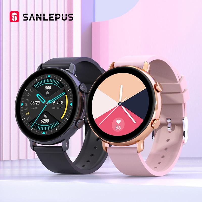 سانليبوس 2021 ساعة ذكية إجراء المكالمات الرجال النساء مقاوم للماء Smartwatch ECG PPG اللياقة البدنية سوار الفرقة ل أندرويد أبل شاومي
