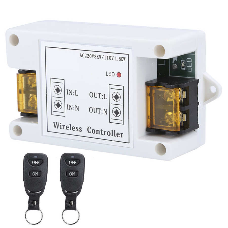 Télécommande sans fil commutateur 220V haute puissance à travers le mur contrôleur pour la maison pompe à eau lumière moteur