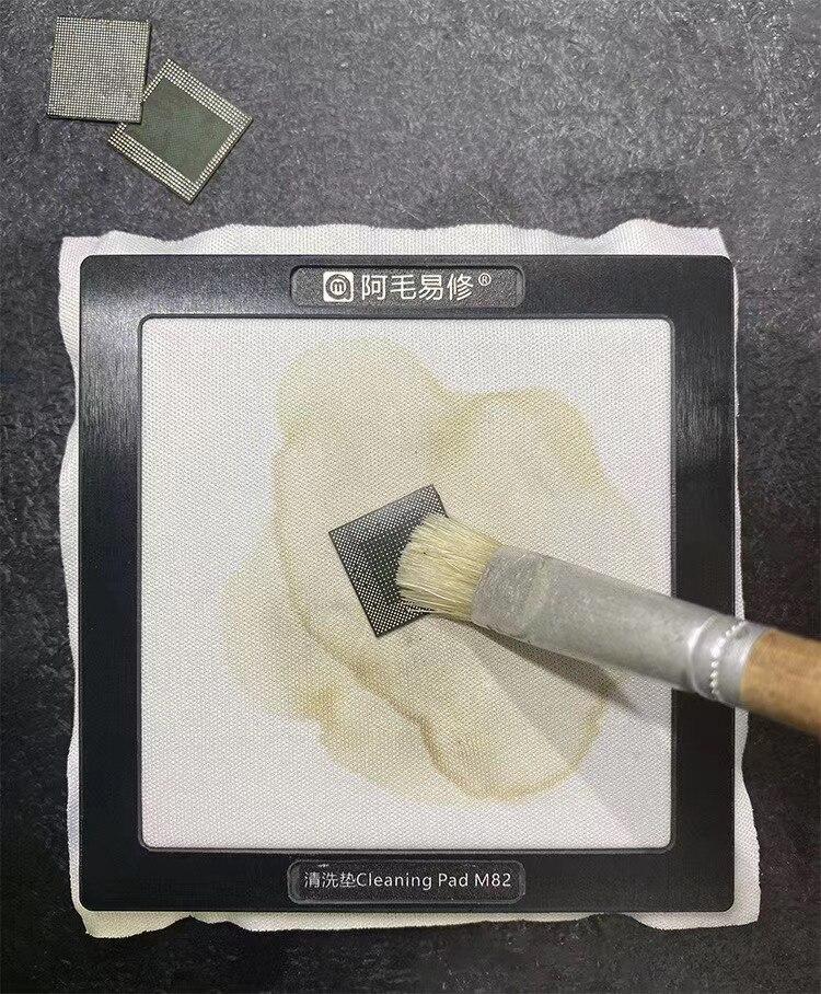 AMAOE M82 Schweißen Öl Reinigung Pad Plattform Für Handy Mainboard IC Chip Stahl Mesh Reinigen